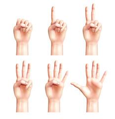 Six Gestures Of People Hands
