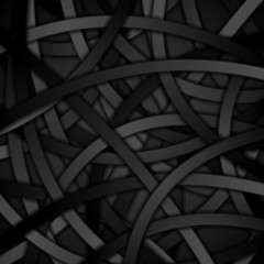 Creative background of black curved stripes