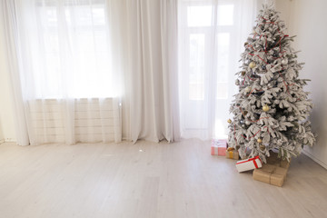Christmas tree with presents new year holiday decor winter Garland