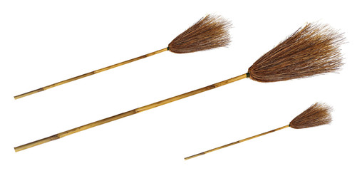 Broom on the white background.