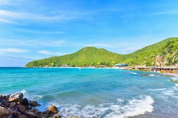 Scenery of Tien Beach on Tropical Island of Koh Larn in Pattaya