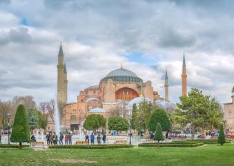 Hagia Sophia in Istanbul. Turkey, 7 December 2018