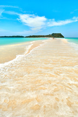 White sand beach of Nosy Iranja island, in Madagascar