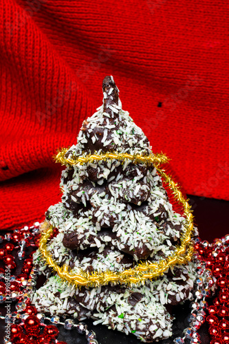 New Year Christmas Card Gingerbread Christmas Tree Cookies