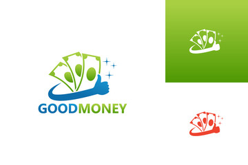 Good Money Logo Template Design Vector, Emblem, Design Concept, Creative Symbol, Icon