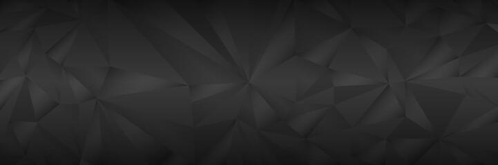 horizontal elegant polygon dark and black background for pattern and design,vector illustration