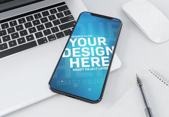 Modern Smartphone and Laptop Mockup