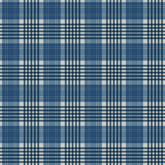 Plaid Seamless Pattern - Plaid design in colors of blue