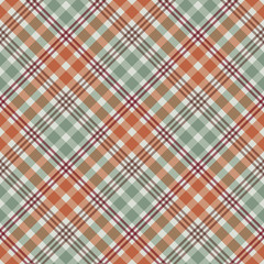 Plaid Seamless Pattern - Plaid design in lovely autumn colors