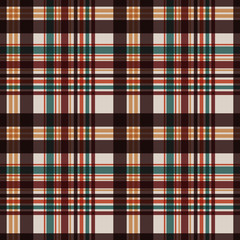 Plaid Seamless Pattern - Plaid design in classic colors of autumn
