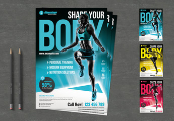 Fitness Flyer Layout