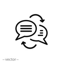 Writing text translation icon