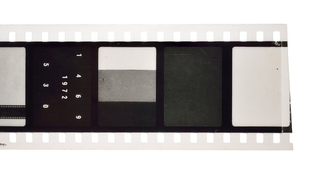 Vintage Film stock For still photography or motion picture. Isolated.