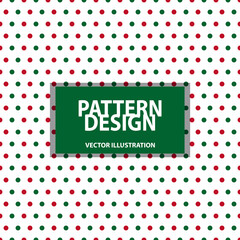Seamless Pattern - Dotted Background - Christmas Colors - Vector Illustration - Isolated On White Background
