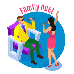 Family Duet Isometric Composition
