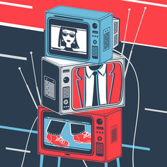 Vector Illustration TV and Television broadcast