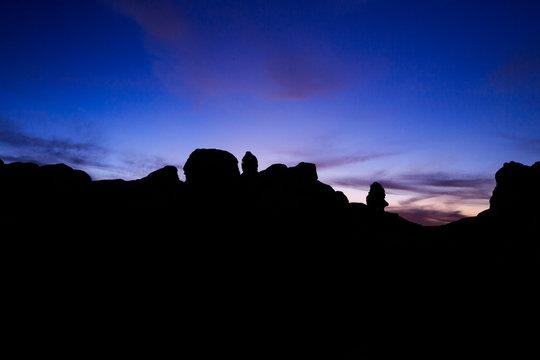 Desert Formation Sunset Silhouette at White Pocket, Vermilion Cliffs National Monument, Arizona