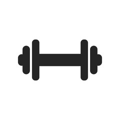 Dumbbell gym graphic icon design template