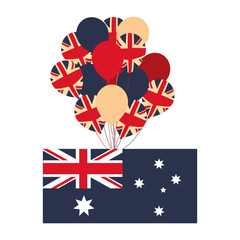 australia flag and balloons decoration