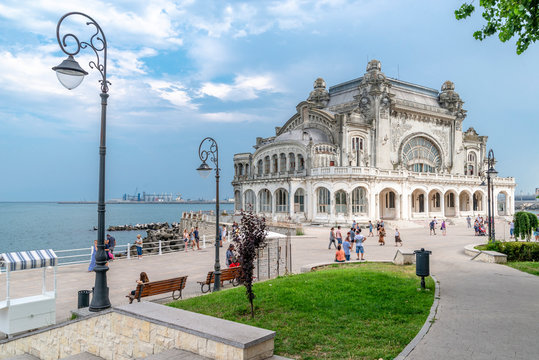 the view on old Casino (now closed) in Constanta, Romania