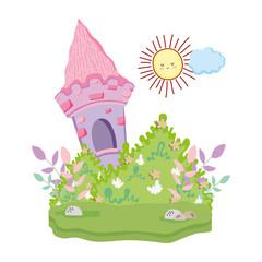 cute fairytale landscape scene