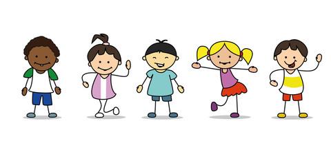 verschiedene kinder illustration Zeichnung