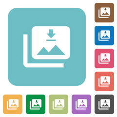 Download multiple images rounded square flat icons