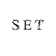 3d text illustration depth effect set