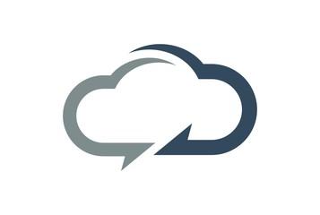cloud computing data concept logo icon