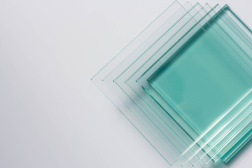 Obraz Glass Factory produces a variety of transparent glass thicknesses. - fototapety do salonu