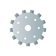 motor gear isolated icon