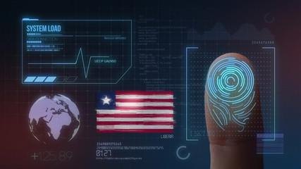 Finger Print Biometric Scanning Identification System. Liberia Nationality