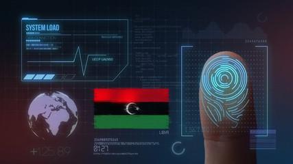Finger Print Biometric Scanning Identification System. Libya Nationality