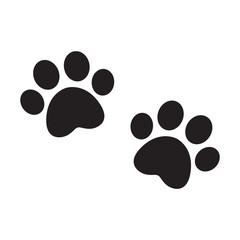 dog paw vector footprint icon logo french bulldog cat puppy kitten cartoon symbol sign illustration doodle