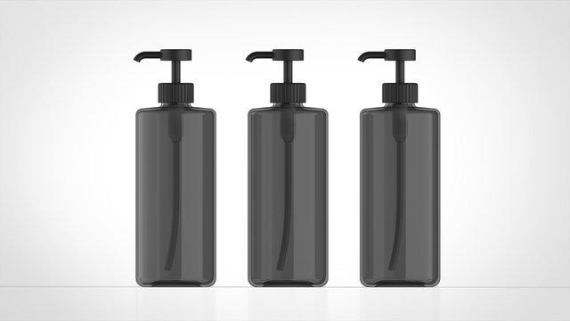 ボトル 黒 3 正面