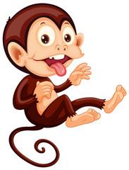 A playful monkey character