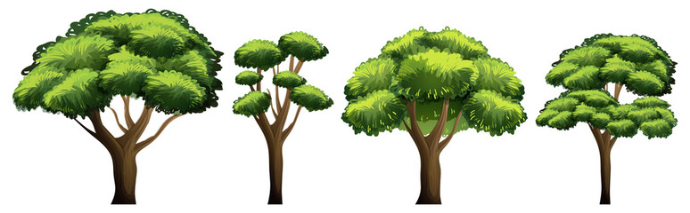 Set of different tree