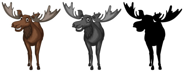Set of moose character