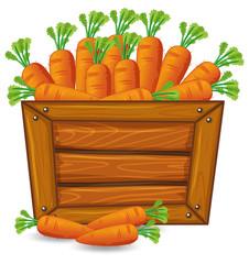 Carrot on wooden banner