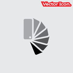 Color samples icon isolated sign symbol and flat style for app, web and digital design. Vector illustration.