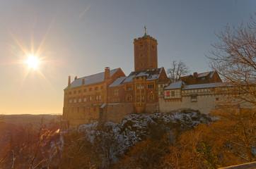Wartburg in der Nachmittagssonne