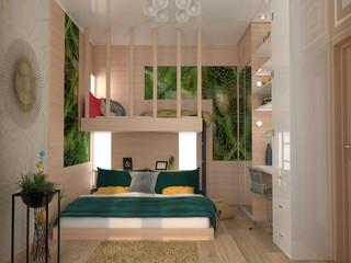 Interior visualization, interior design, 3D Illustration