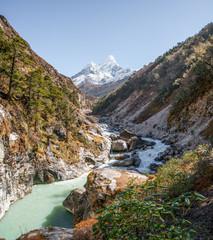 Ama Dablam summit in Himalayas