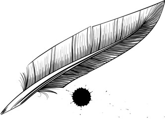 feather pen blotter