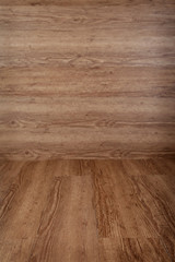 Wooden oak floor, with the floor in the foreground in focus