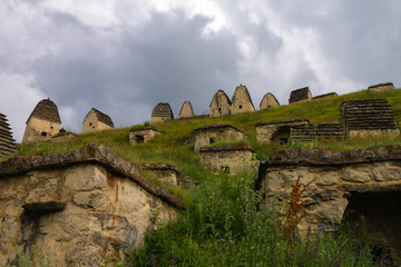 City of the dead. Ancient Albanian cemetery. Russia. It consists of 99 different tombs. 25.07.2017