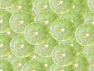 Juicy lime slice circle shape stacking and overlay background