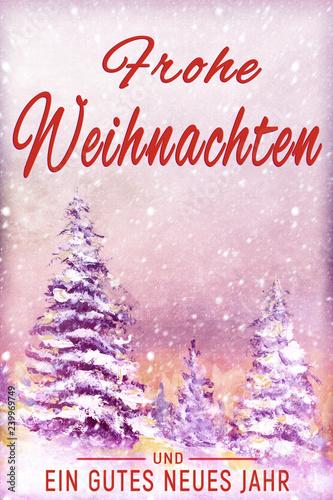 Frohe Weihnachten Und Happy New Year.Frohe Weihnachten Und Ein Gutes Neues Jahr Card Merry Christmas And