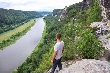 hiking in bastei, germany