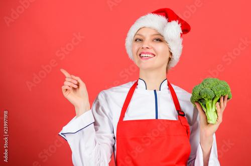 Christmas Dinner Ideas Christmas Menu Woman Chef Cooking Christmas